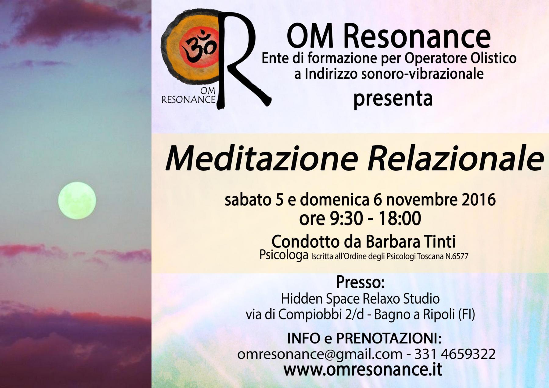 meditazione relazionale om resonance operatore olistico firenze