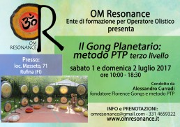 gong planetario firenze om resonance