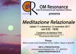 meditazione relazionale 11 e 12 novembre 2017 FI