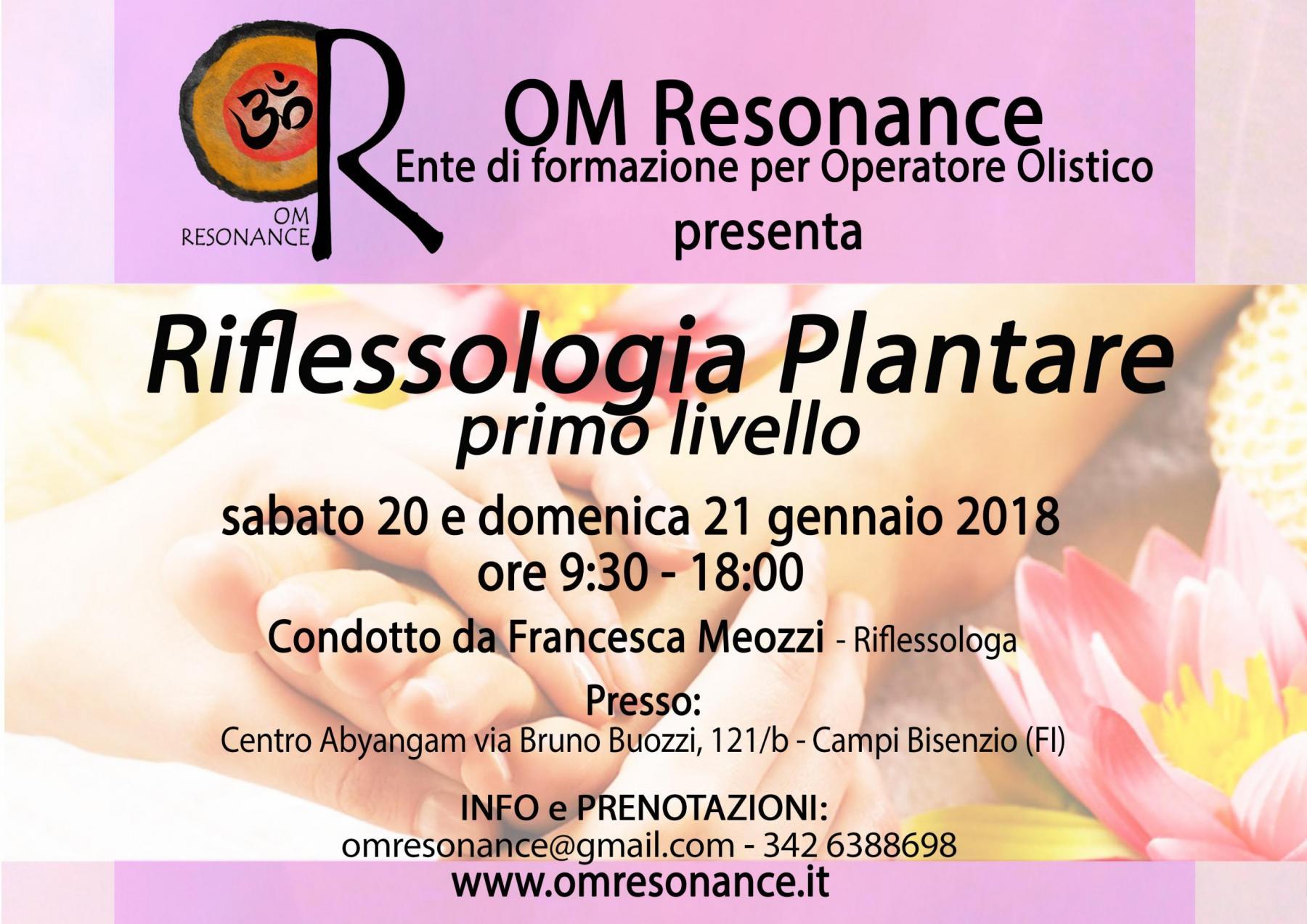 Firenze 20 e 21 gennaio riflessologia plantare