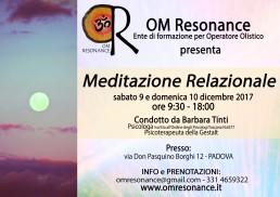 meditazione relazionale 9 e 10 dicembre 2017 PD
