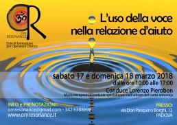 L'uso della voce nella relazione d'aiuto PADOVA Lorenzo Pierobon OM Resonance
