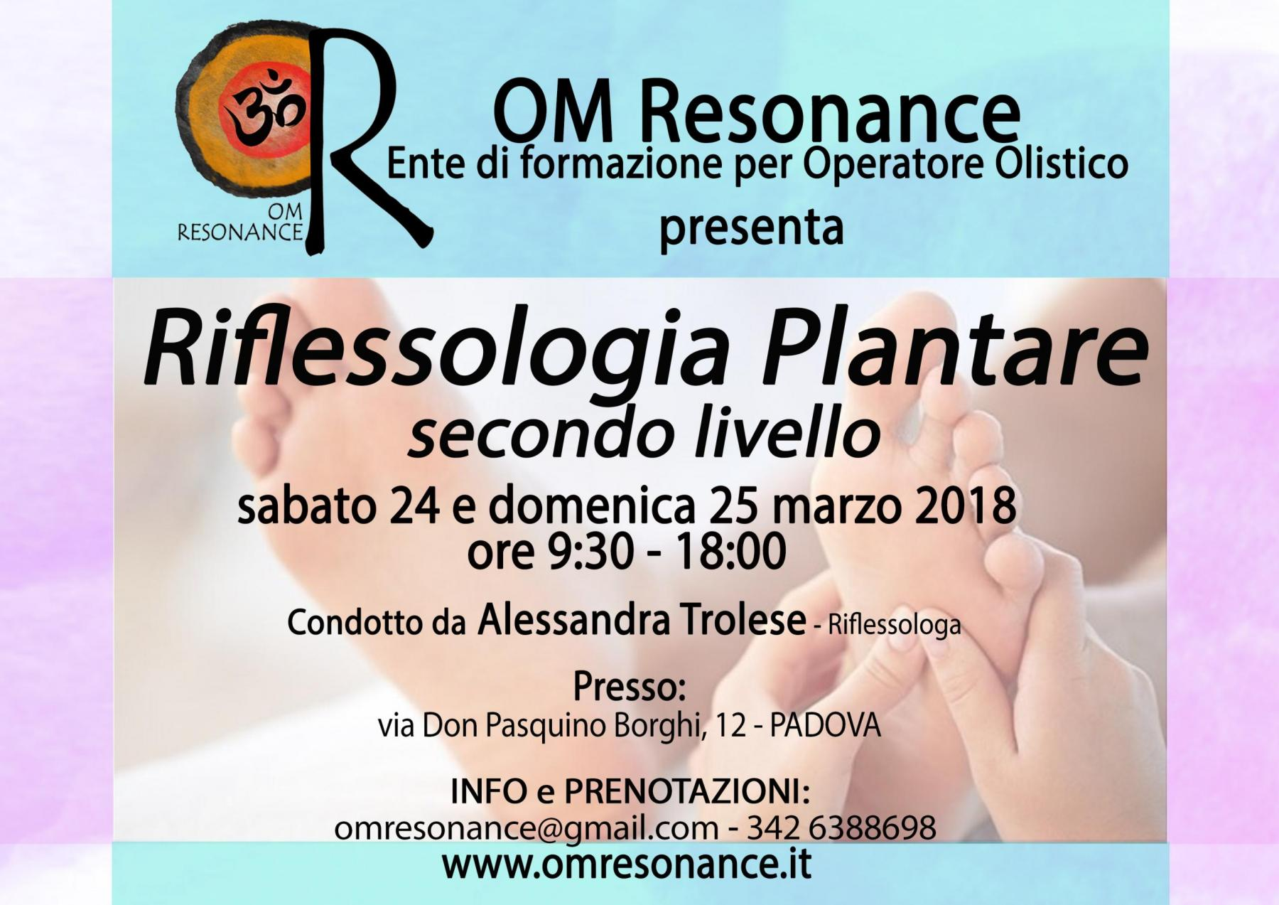 PADOVA riflessologia plantare 2 OM Resonance