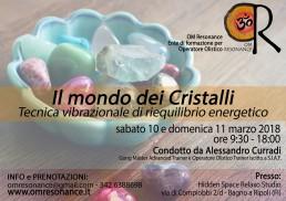Il mondo dei cristalli Alessandro Curradi Om resonance