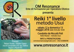 Reiki primo livello Firenze OM Resonance Niccolò Poli