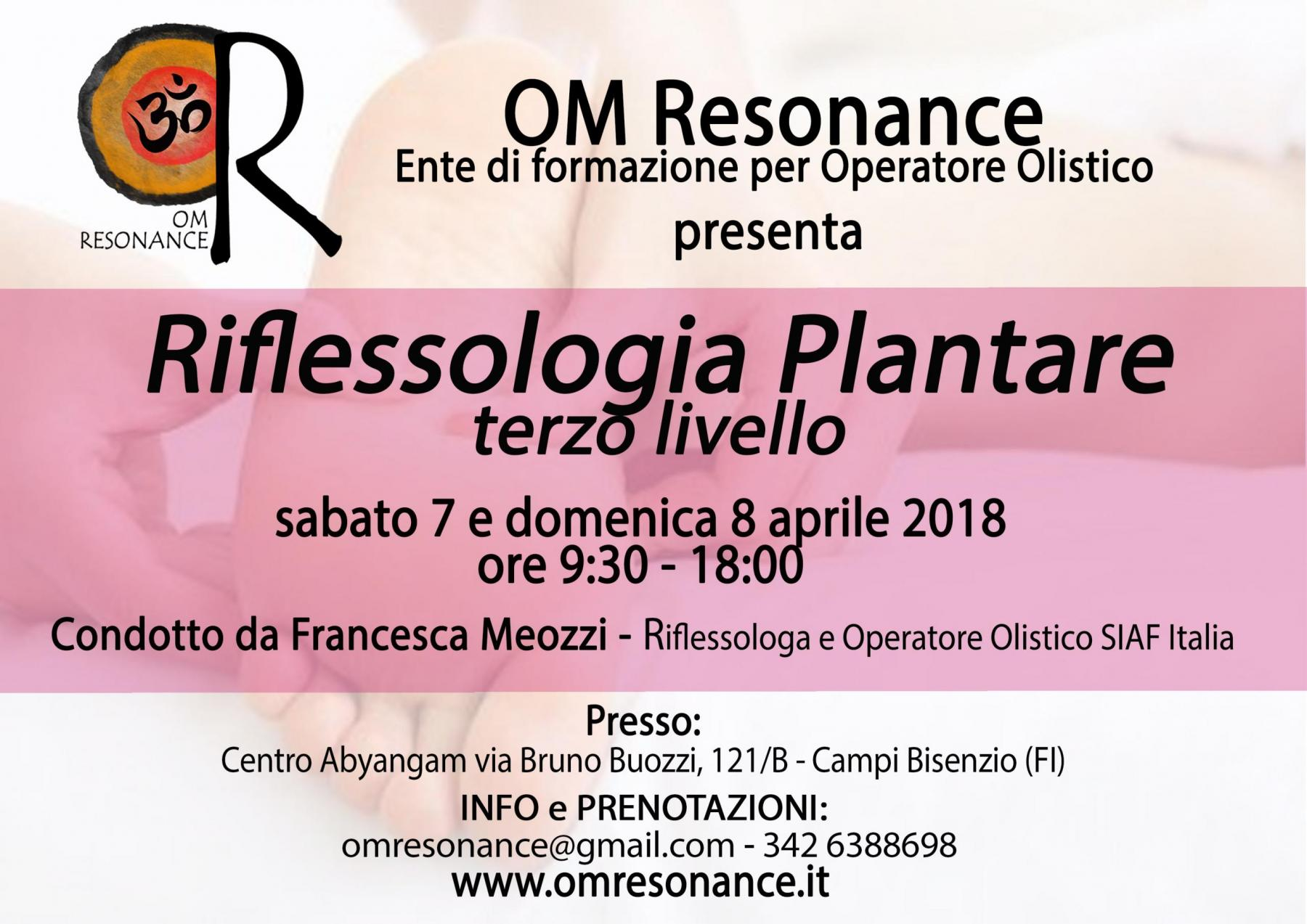 riflessologia plantare 3 livello Francesca Meozzi om resonance
