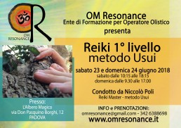 reiki metodo usui Padova OM Resonance