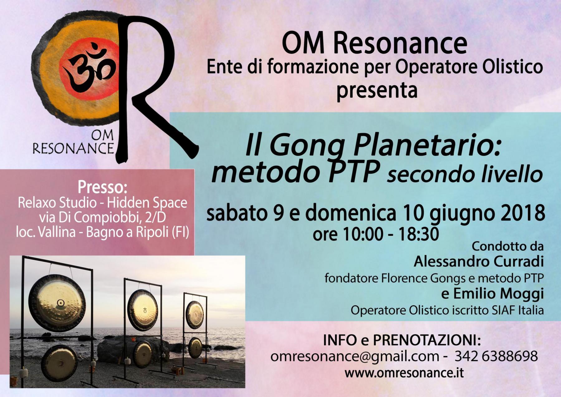 gong planetario secondo livello om resonance firernze