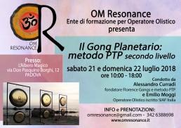 Gong Planetario OM Resonance secondo livello PADOVA