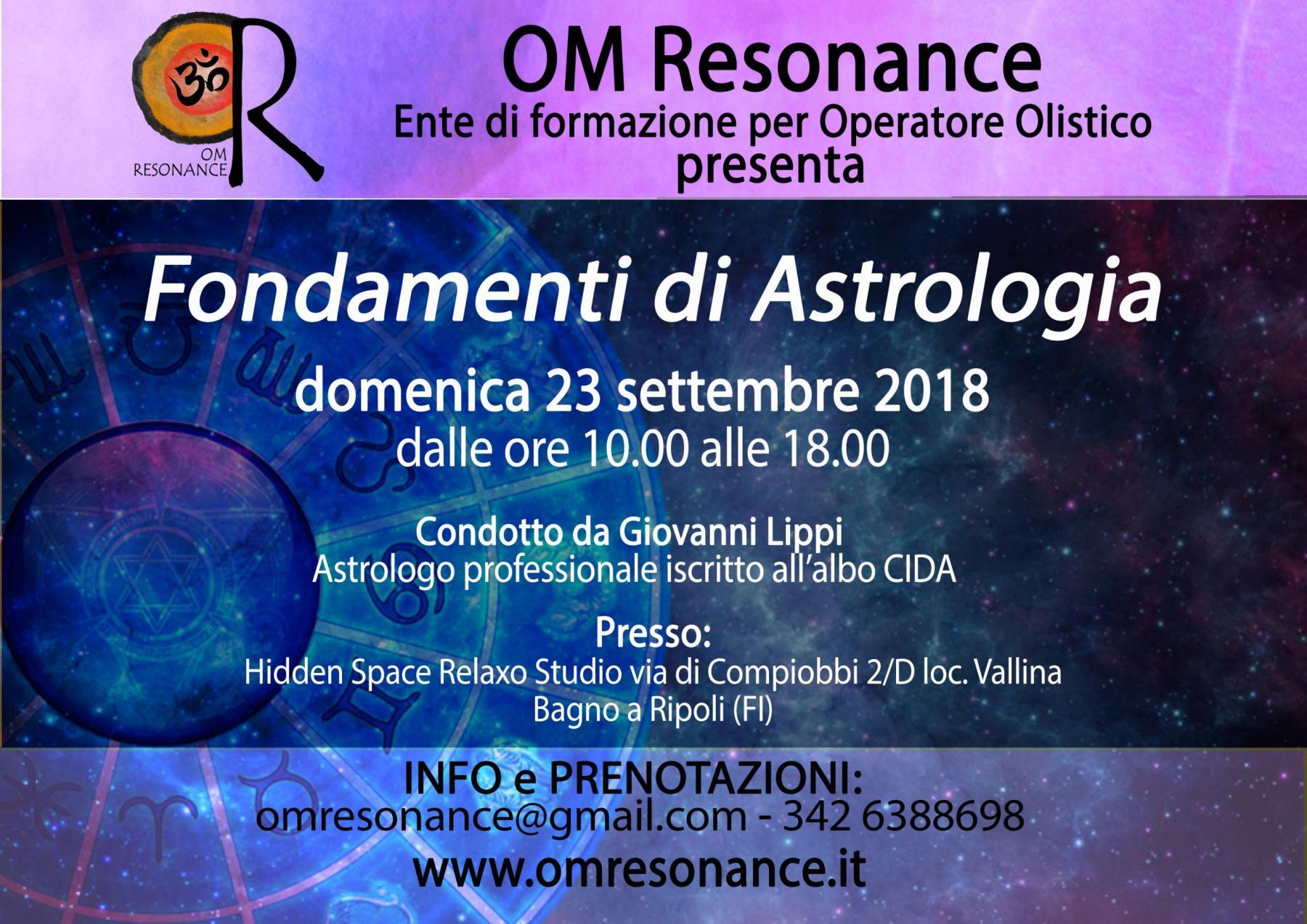 fondamenti di astrologia Giovanni Lippi Om Resonance Firenze